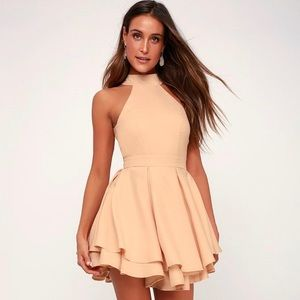 Lulu's Pink Rehearsal Skater Dress